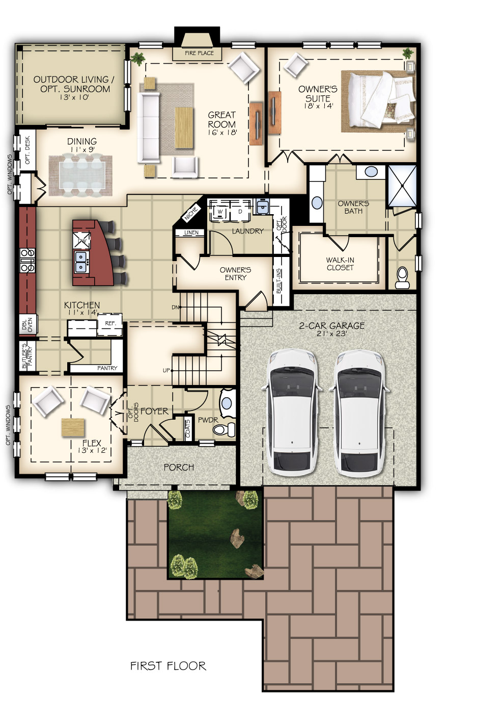 Vale Plan New Home Floor Plans In Libertyville Il